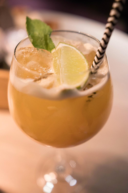 Firade alla hjärtans dag på Butlers trollhättan. alkoholfri drink med smak av persika och passionsfrukt.