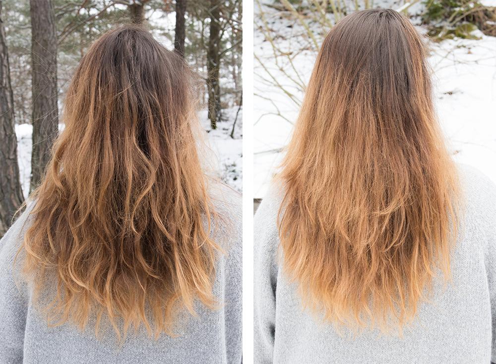 få bort röda pigment ur brunt hår