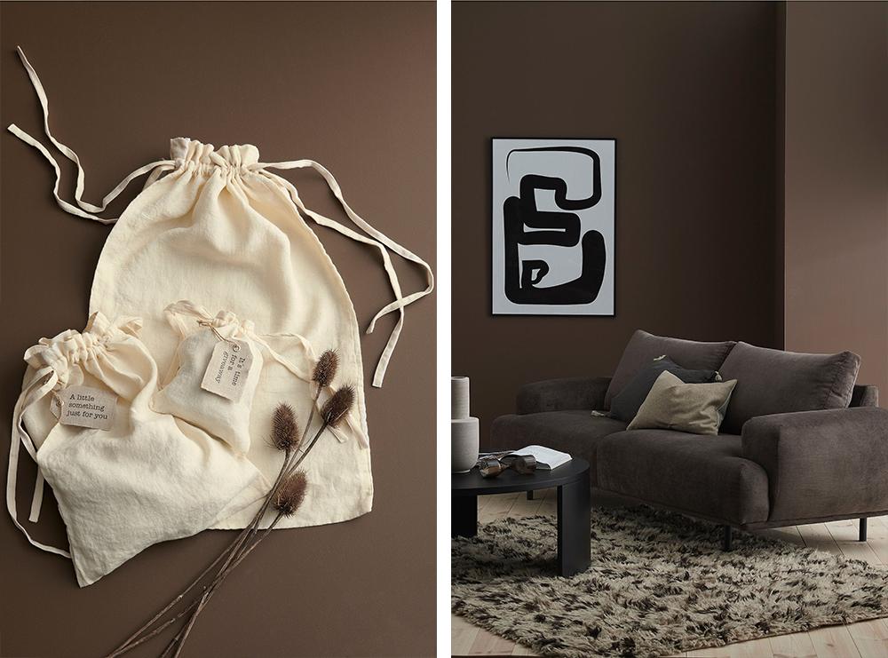 Ellos Home Presentpåse Candice och Ellos Home Soffa Shape 3-sits i chenille  höstnyheter