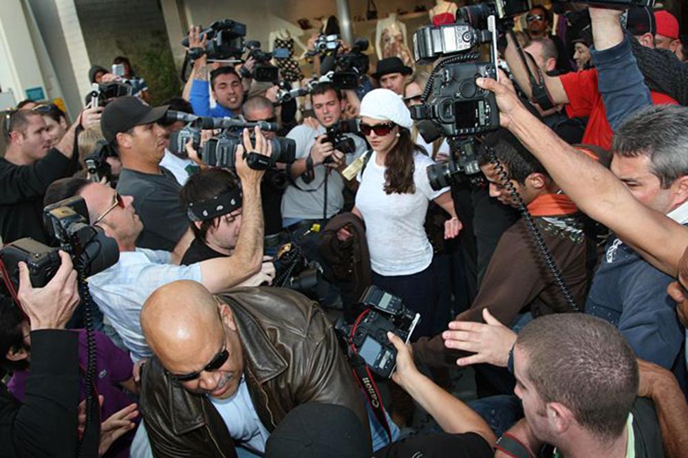 Britney Spears jagad av paparazzi