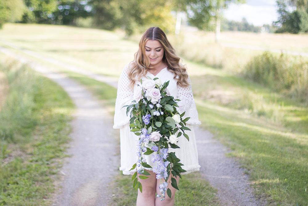 Droppformad brudbukett | Floristutbildning