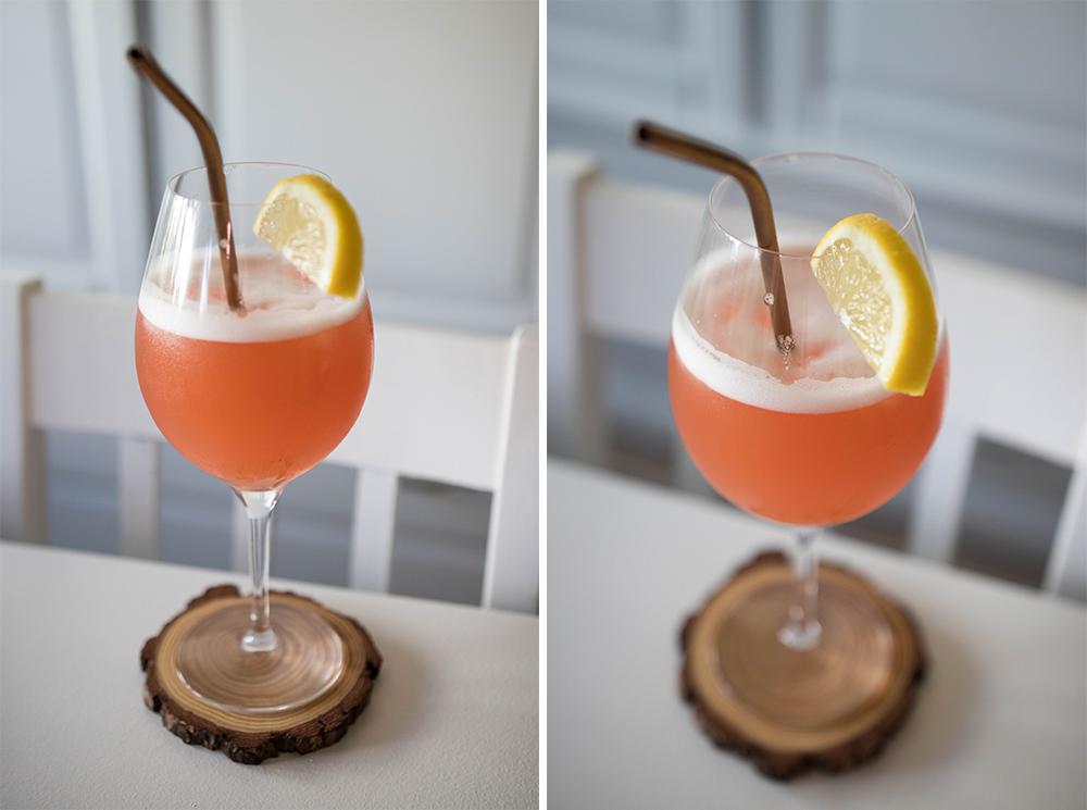 Alkoholfri drink gjord på sorbetglass