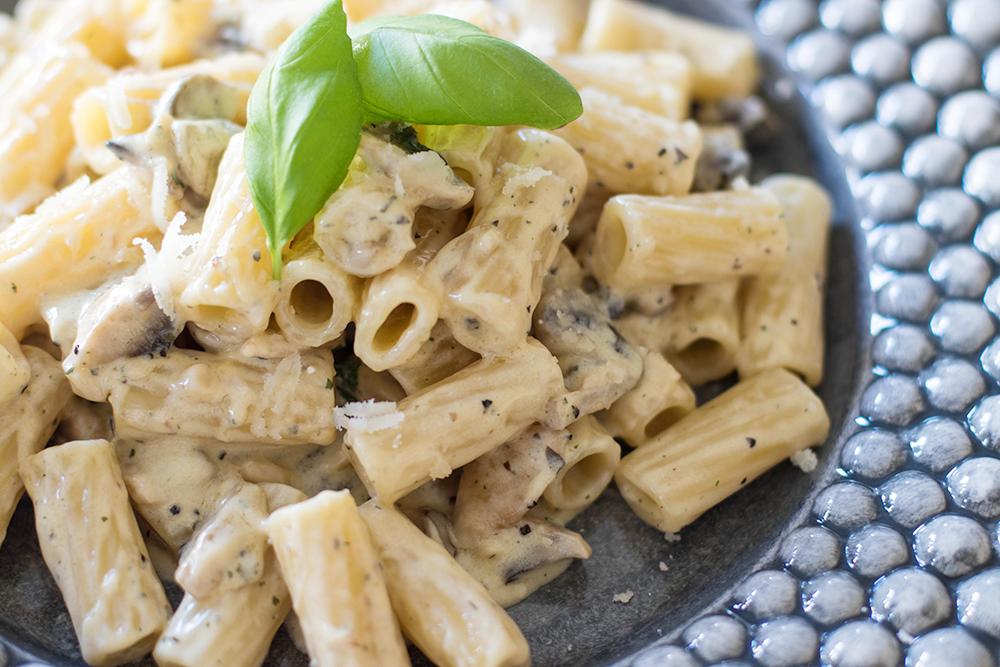 Paolos pasta med champinjonsås