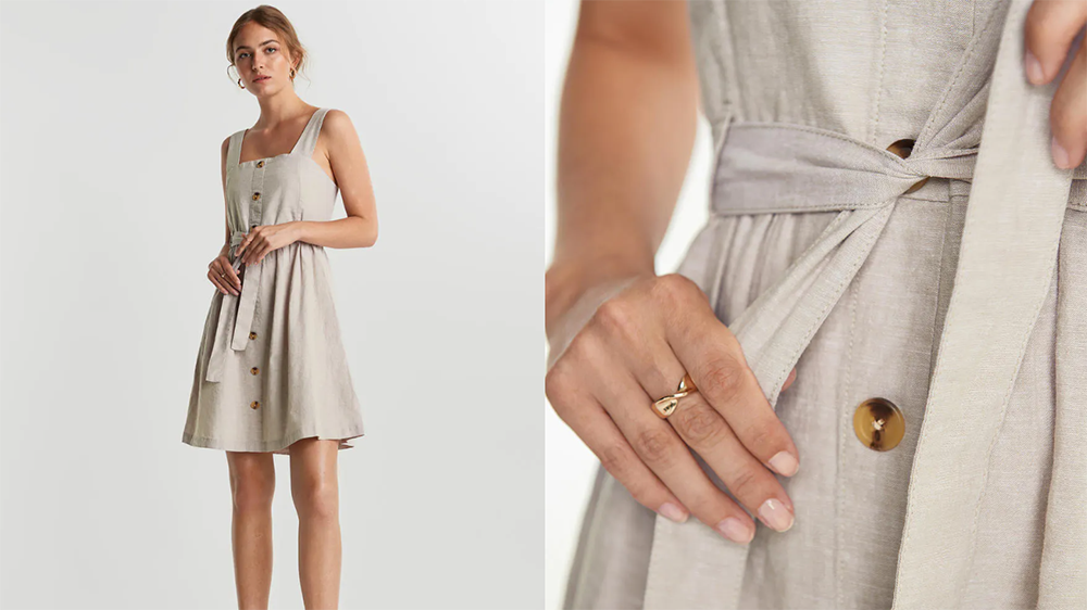 gina tricot Signe linen dress